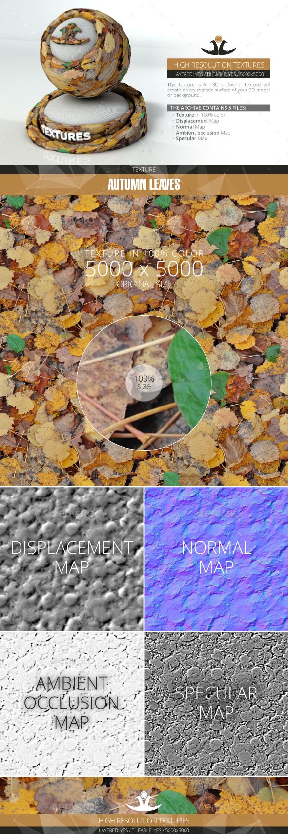 3DOcean Autumn Leaves 9 20994357
