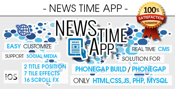 News Time App With CMS - iOS [ AdMob & Push Notifications ] - CodeCanyon Item for Sale