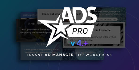 Ads Pro Plugin - Multi-Purpose WordPress Advertising Manager - CodeCanyon Item for Sale