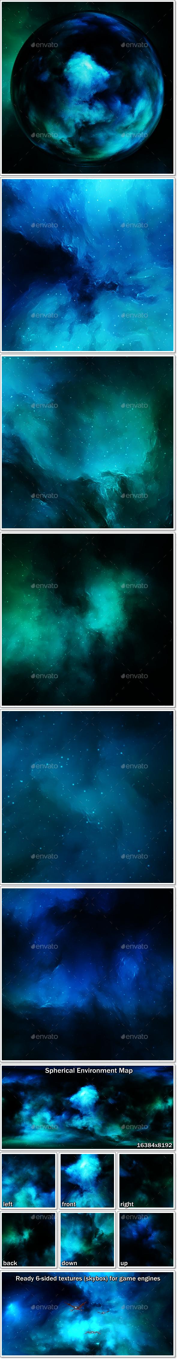 3DOcean Nebula Space Environment HDRI Map 009 20994426