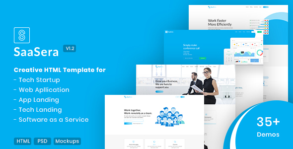 SaaSera - Software, App & SaaS Startups Template