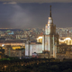 View from the roof tops on night city Moscow - PhotoDune Item for Sale