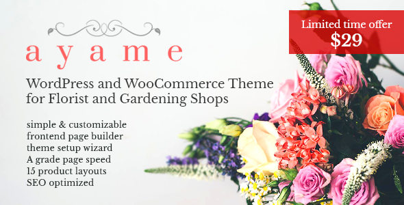 Ayame - WordPress and WooCommerce Theme for Florist and Gardening Shops