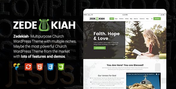 Zedekiah – MultiPurpose Church & Religion WordPress Theme            nulled