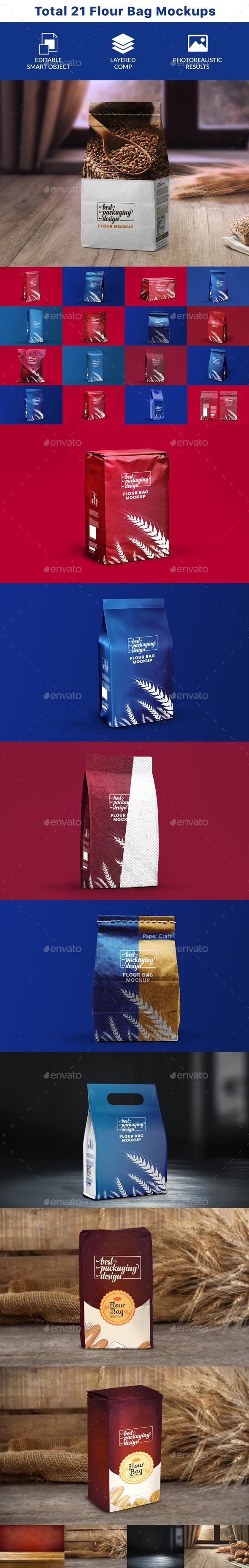 GraphicRiver Flour Bag PSD Mockup 20773866