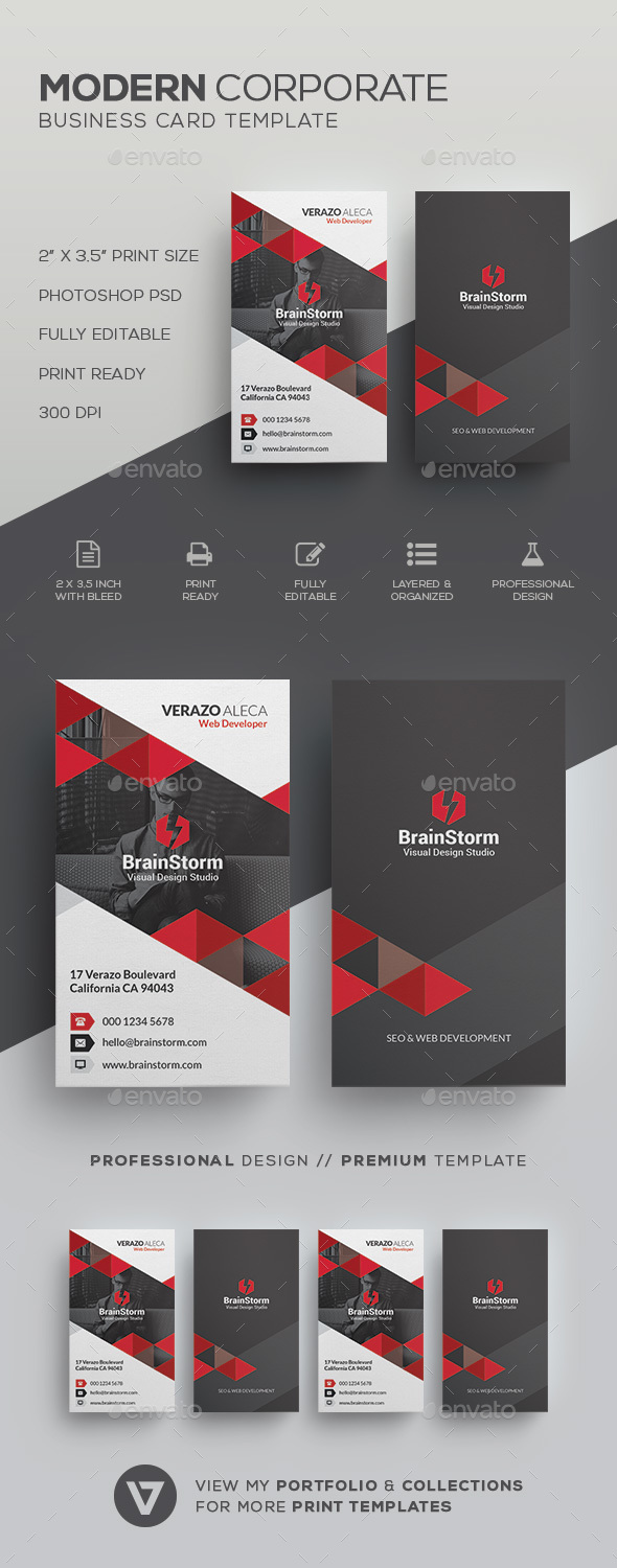 GraphicRiver Modern Business Card Template 20994732