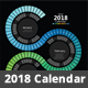 2018 Spectrum Swirl Calendar - GraphicRiver Item for Sale