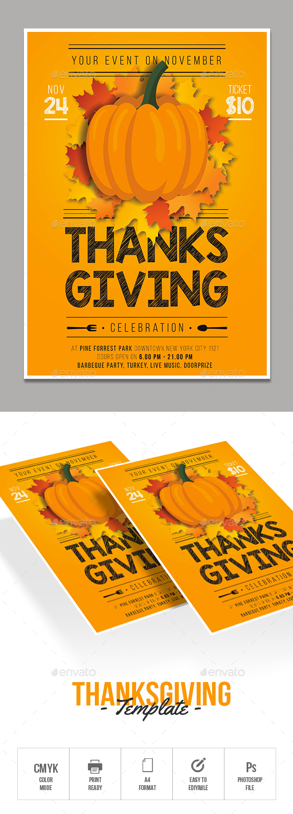 GraphicRiver Thanksgiving Flyer 20994822