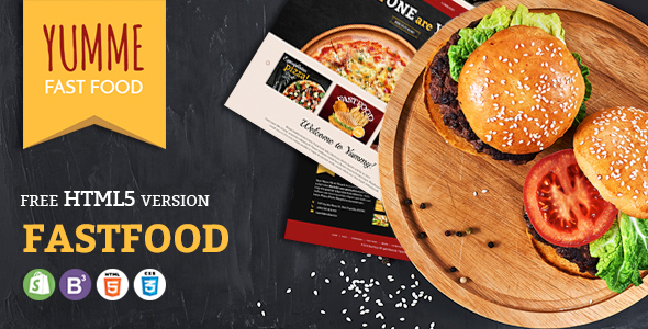 Image of Yumme - Shopify Theme for Pizza, Food, Coffee & Drink Restaurant Bar Cafe Shop Takeaway Delivery