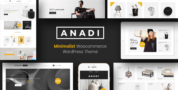 ThemeForest Anadi WooCommerce Furniture WordPress Theme 20625490