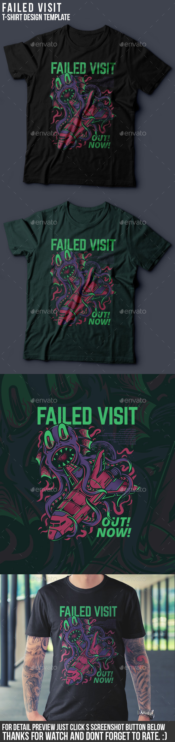 GraphicRiver Failed Visit T-Shirt Design 20994944