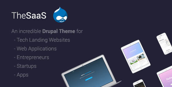 ThemeForest TheSaaS Responsive SaaS Software & WebApp Drupal 8 Themes 20904964