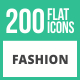 200 Fashion Flat Icons