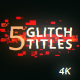 5 Glitch Cyberpunk Titles - VideoHive Item for Sale