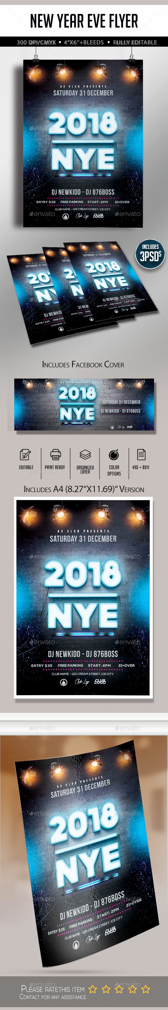 GraphicRiver New year Eve Flyer 20995027