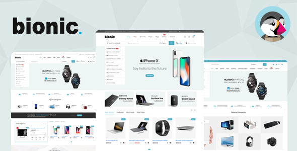 Bionic - Responsive Digital Store Prestashop Theme V1.6 & V1.7 - Technology PrestaShop