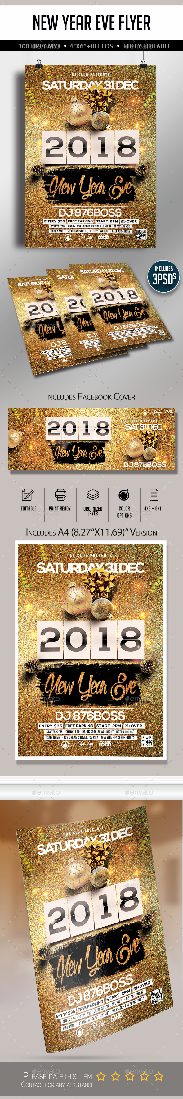 GraphicRiver New Year Eve Party Flyer 20995059