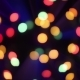 Christmas Bokeh Light Abstract Holiday Background Defocused Ligths of Christmas Tree - VideoHive Item for Sale