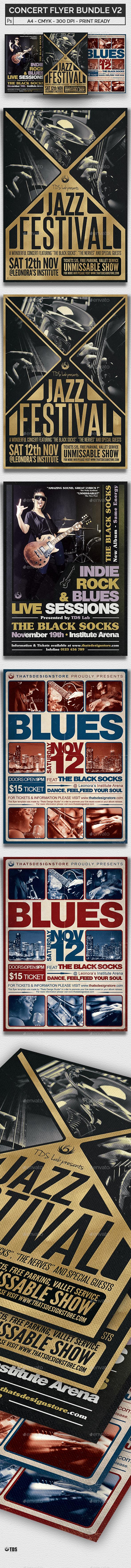 Concert Flyer Bundle V2 - Concerts Events