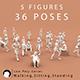 Low Poly Series / Human (walking, sitting, standing)