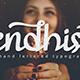 Gendhist - a Hand Lettered Font