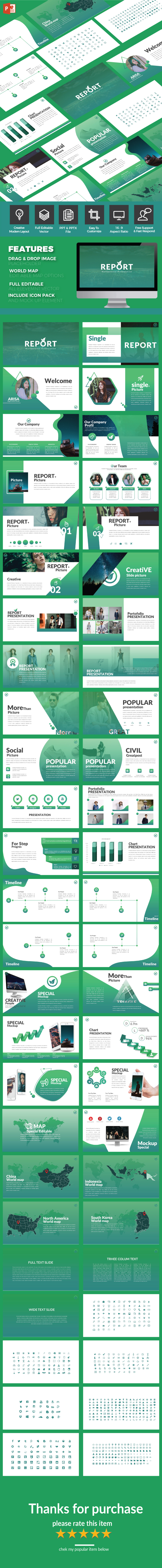 Report - Multipurpose PowerPoint Template - PowerPoint Templates Presentation Templates