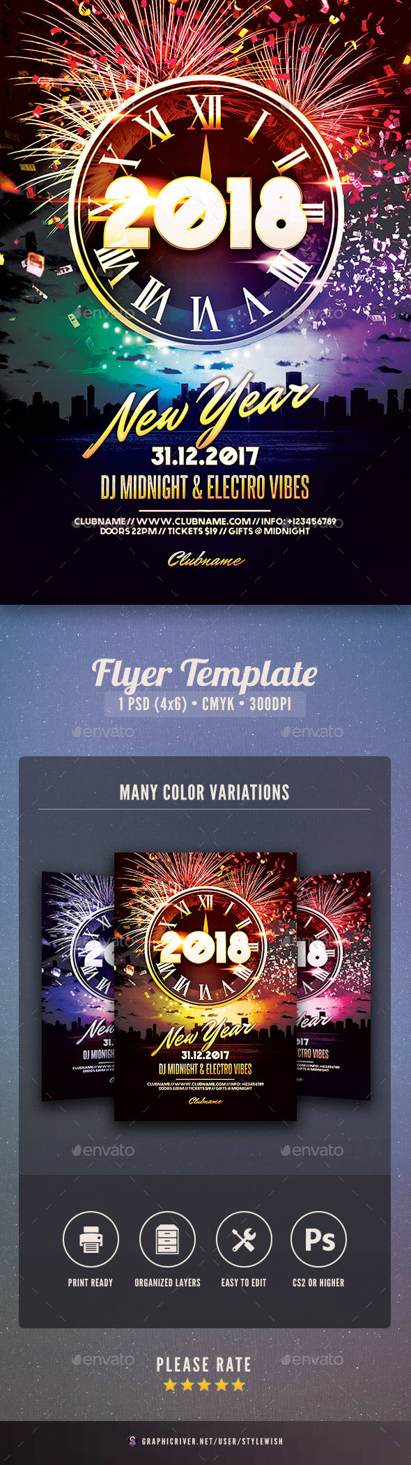 GraphicRiver New Year Flyer 20981215