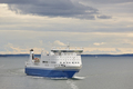 Cruise vessel on the baltic sea. Finland. Travel holiday background