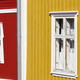 Traditional wooden houses facade in Rauma town. Finland heritage. Horizontal - PhotoDune Item for Sale
