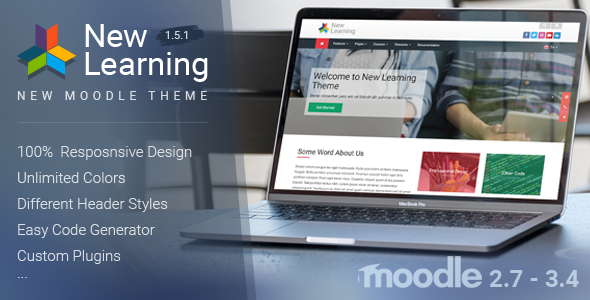 New Learning | Premium Moodle Theme - Moodle CMS Themes