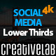 Social Media Lower Thirds 4K - VideoHive Item for Sale