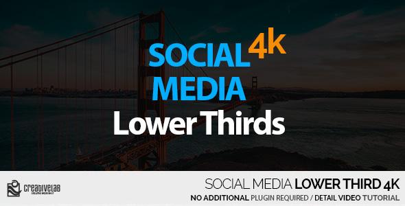 VideoHive Social Media Lower Thirds 4K 20954851