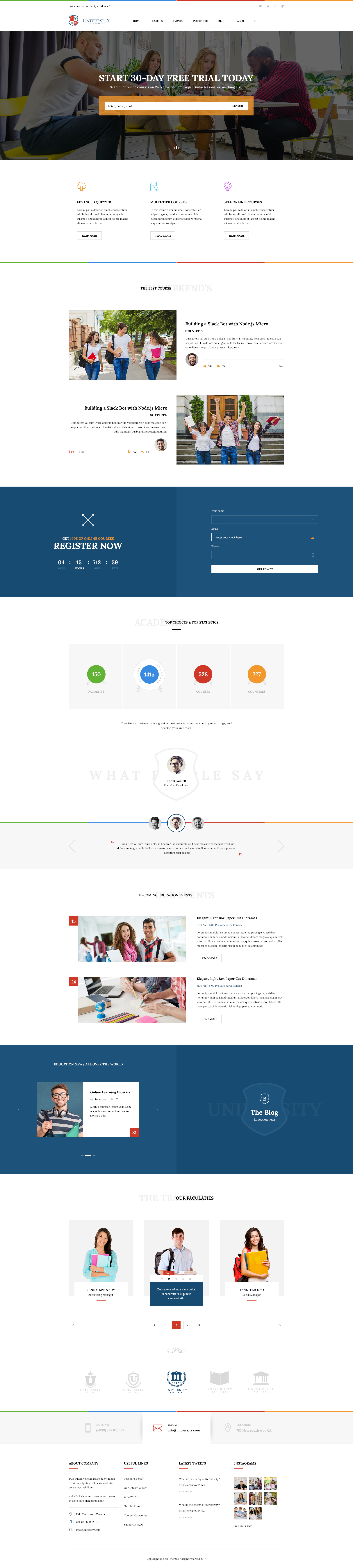 University education course academy psd templates by tivatheme preview05 homepage v5g reheart Gallery
