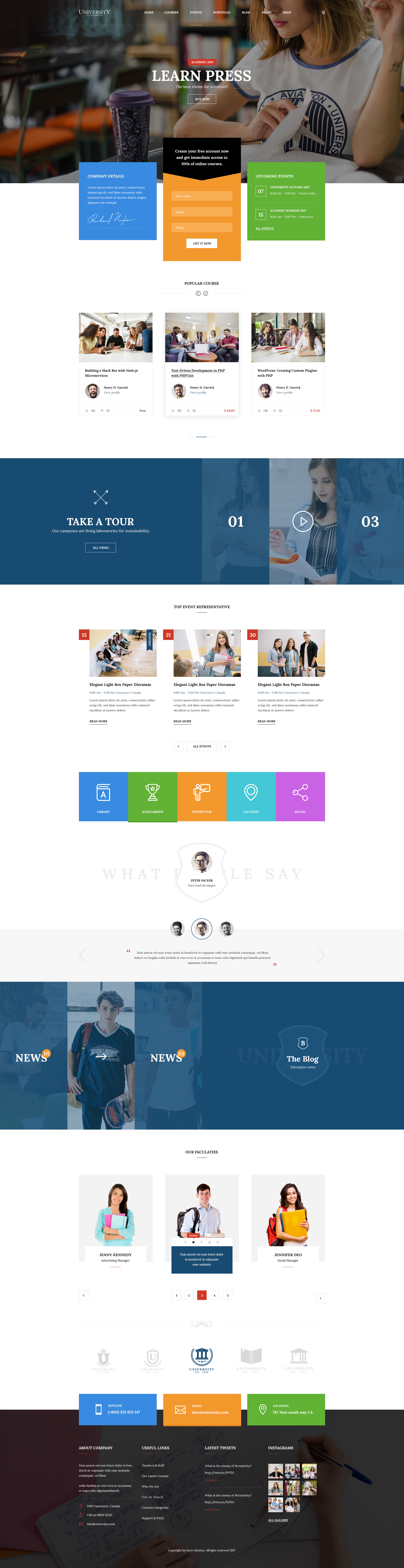 University education course academy psd templates by tivatheme preview01 homepage v1g preview02 homepage v2g preview03 homepage v3g preview04 homepage v4g preview05 homepage v5g reheart Gallery