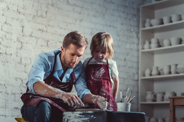 Potters in studio - Stock Photo - Images