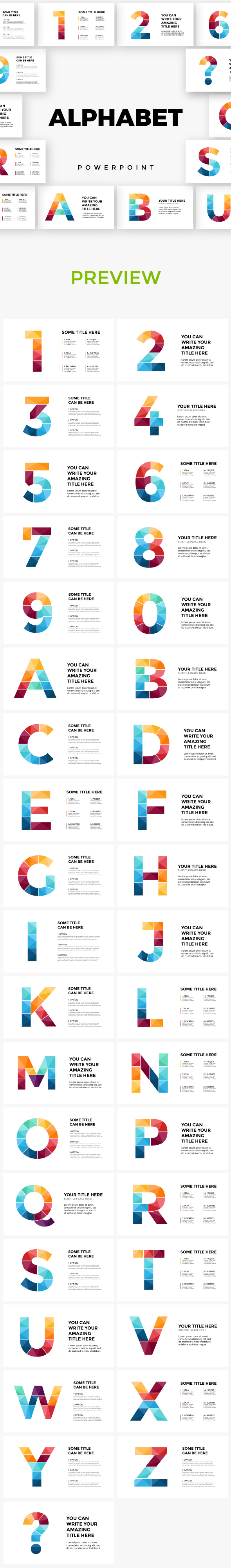 GraphicRiver Alphabet Powerpoint Infographic Templates 20995702