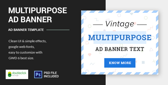 Vintage Multipurpose - HTML5 Animated Banner Template Best Scripts