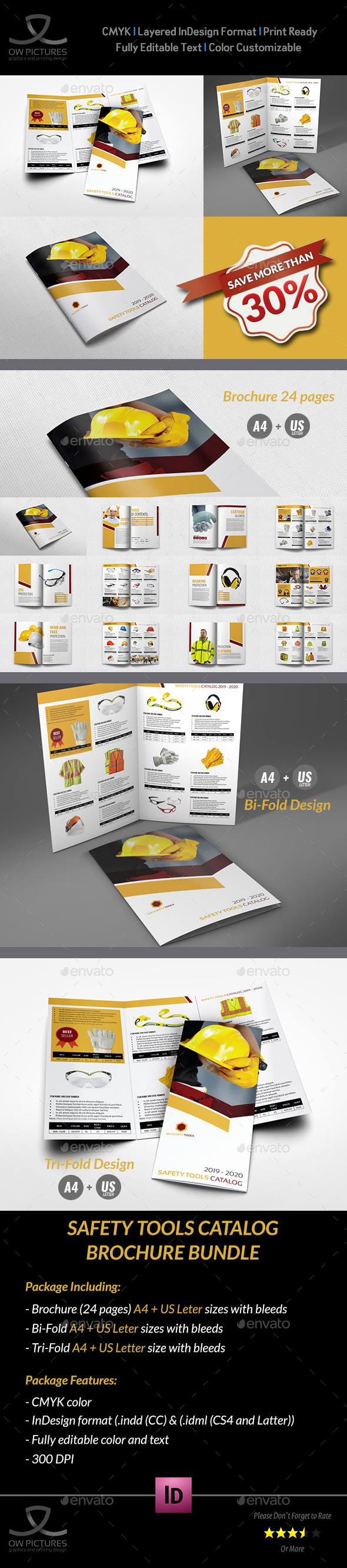 GraphicRiver Safety Tools Catalog Brochure Bundle Template 20995786