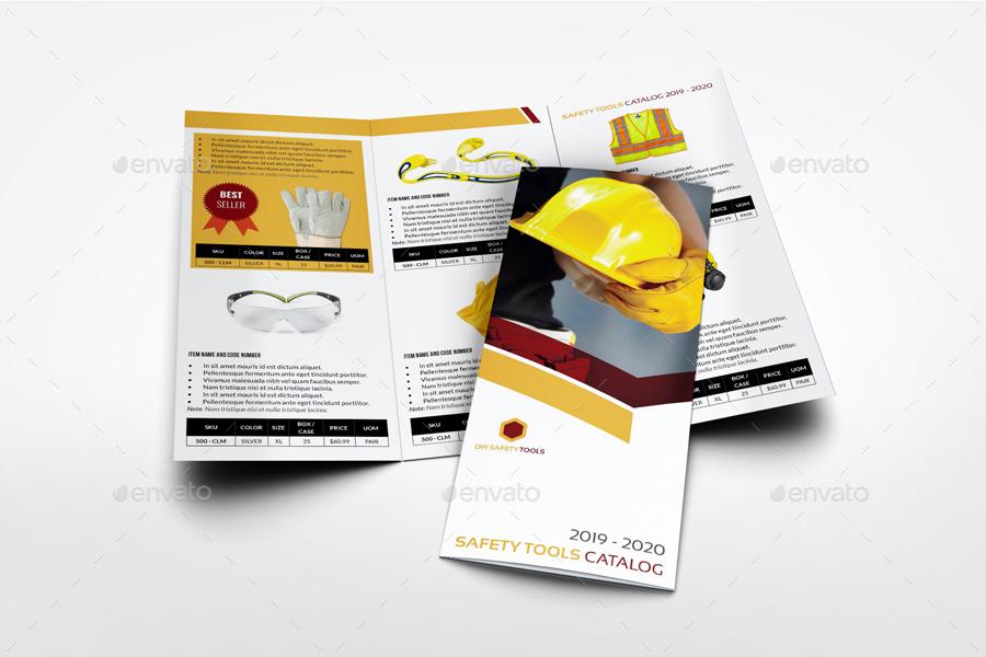 safety tools catalog brochure bundle template by owpictures graphicriver. Black Bedroom Furniture Sets. Home Design Ideas