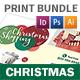 Christmas 2017 Print Bundle - GraphicRiver Item for Sale