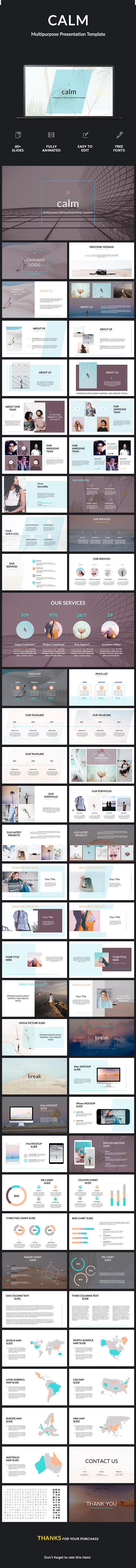 GraphicRiver Calm Minimal Business Powerpoint Template 20995870