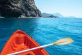 View from orange kayak