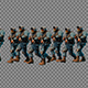Large Group Soldier Walking In Patrol - VideoHive Item for Sale