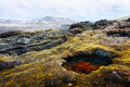 Lavas field in the geothermal valley