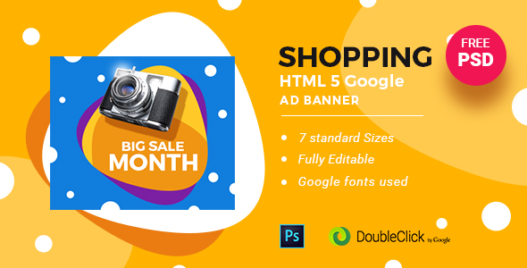Online Shopping | HTML5 Google Banner Ad 24 - CodeCanyon Item for Sale