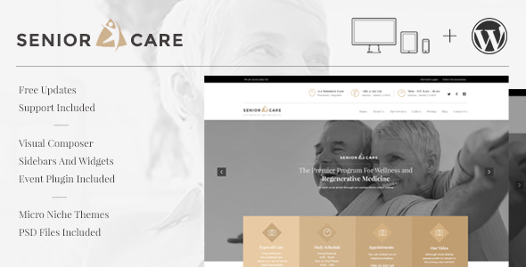 Senior | Health and Medical Care WordPress Theme - Health & Beauty Retail