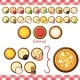 Vector - Pizza Constructor Flat Icons Isolated