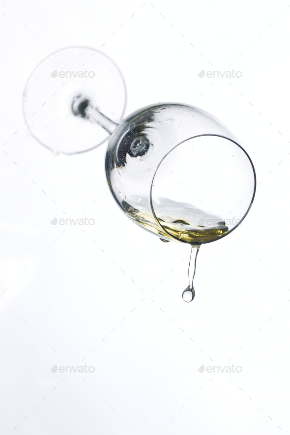 Wineglass on a white background - Stock Photo - Images