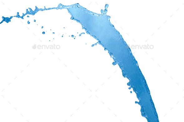 Water splash isolated on white background - Stock Photo - Images