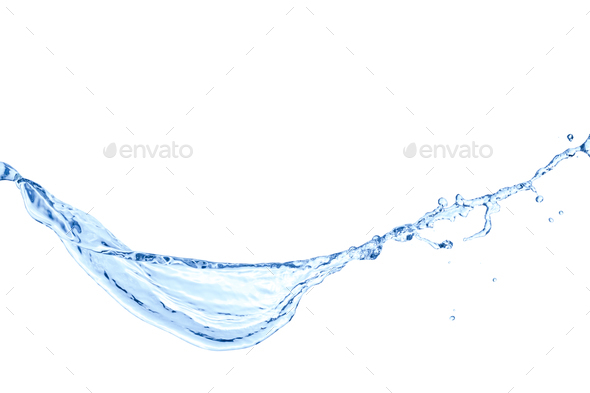 Water splash isolated on white background - Stock Photo - Images